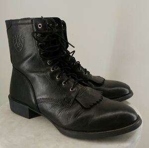 Ariat Men's Black Leather Heritage Lace Up Boot